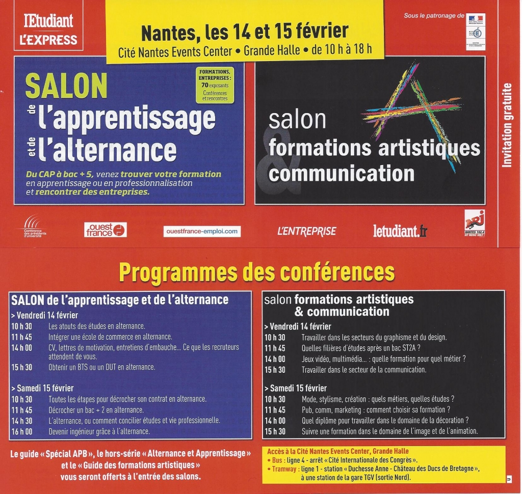 Mission locale du pays d 39 ancenis salon de l 39 alternance et for Salon de l apprentissage et de l alternance