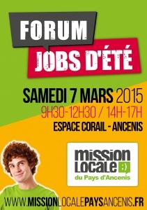 Affiche forum jobs dété 2015 Ancenis
