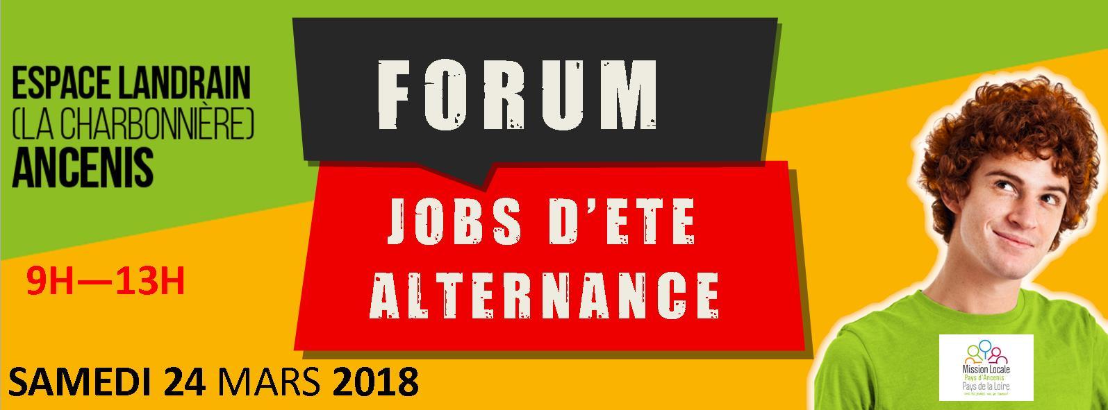 Forum jobs d'été alternance 2018 - 9h 13h - A la Charbonnière Espace Landrain