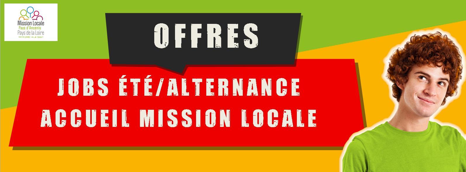 Offres jobs été alternance 2018 - Accueil Mission Locale Ancenis