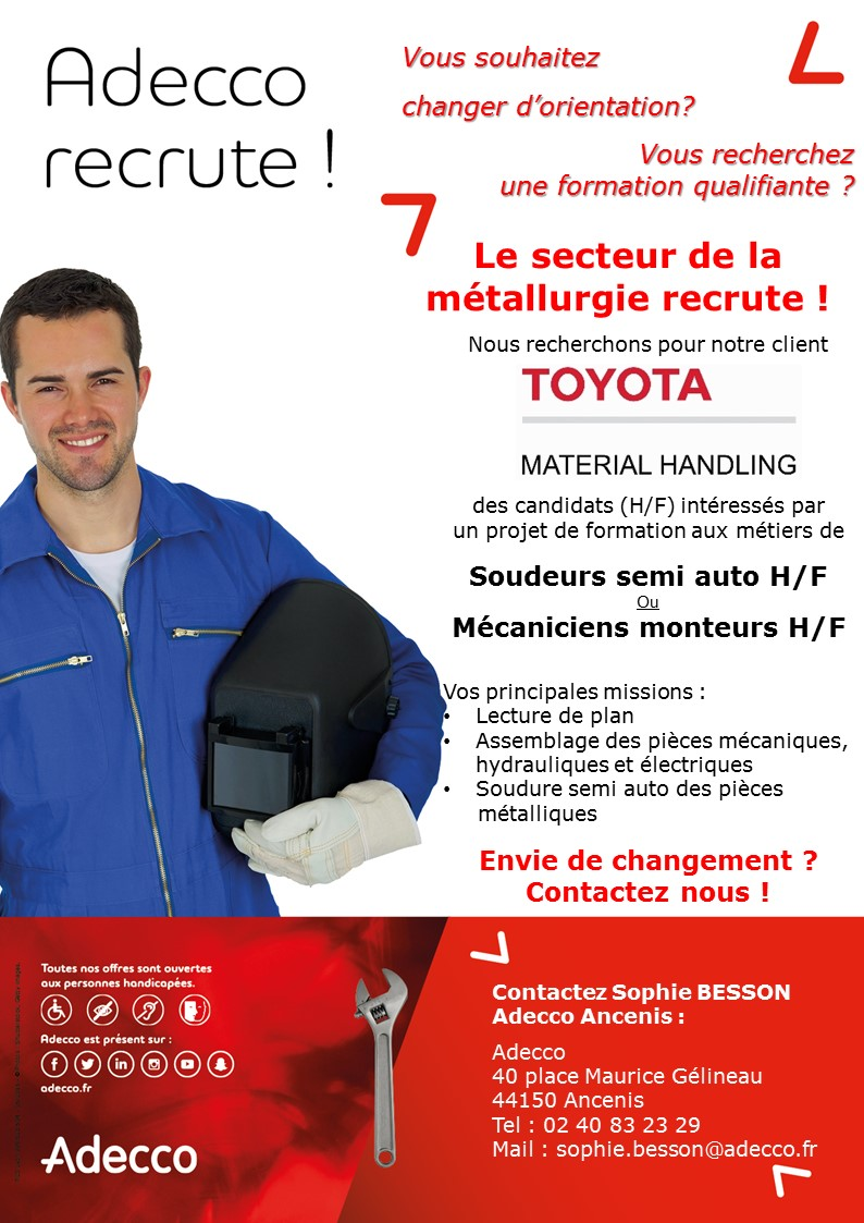 Recrutement Toyota soudeur et monteur